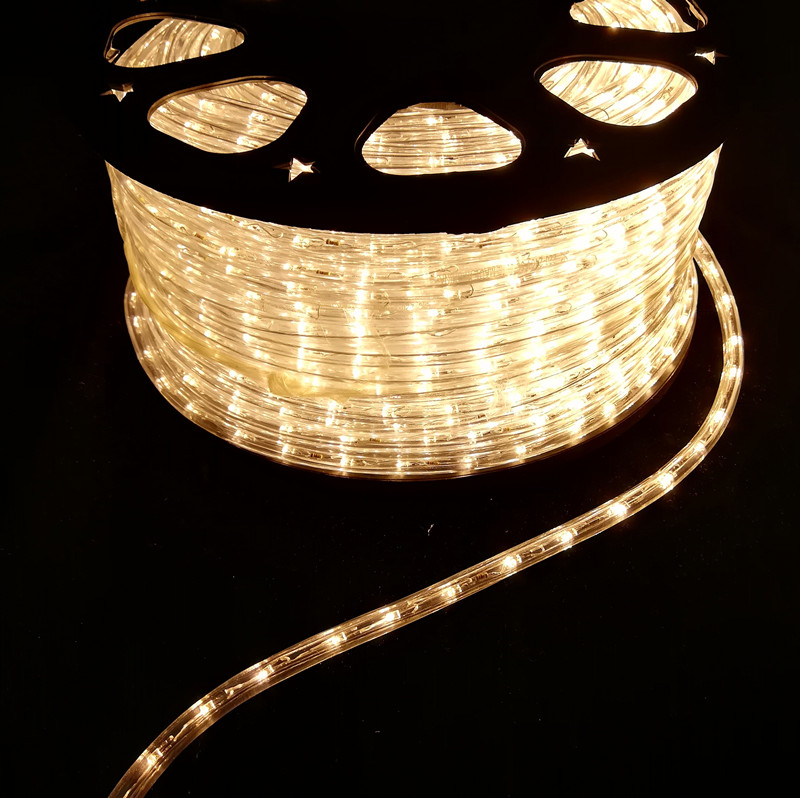 110-130VAC/220-240VAC HORIZONTAL WARM WHITE 2WIRES LED ROPE LIGHT