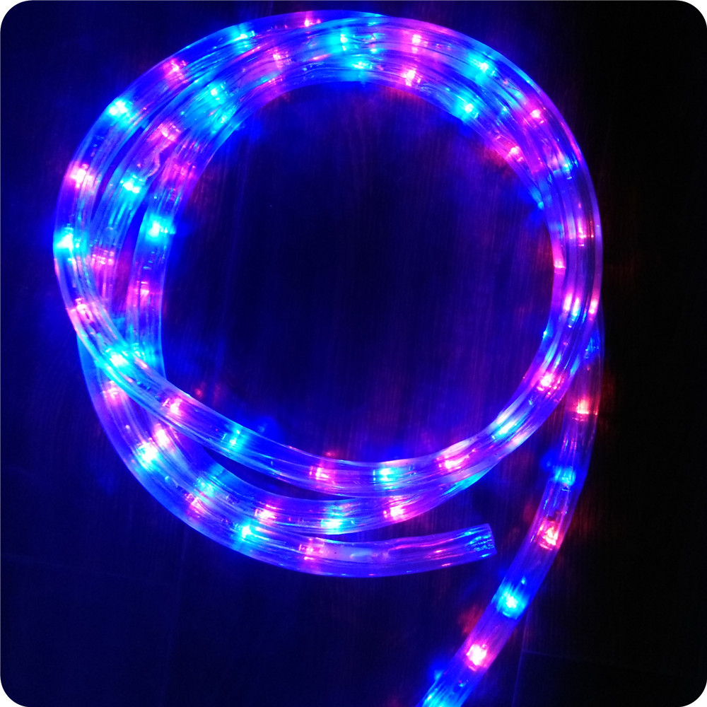 Chasing blue with red 10m led rope light