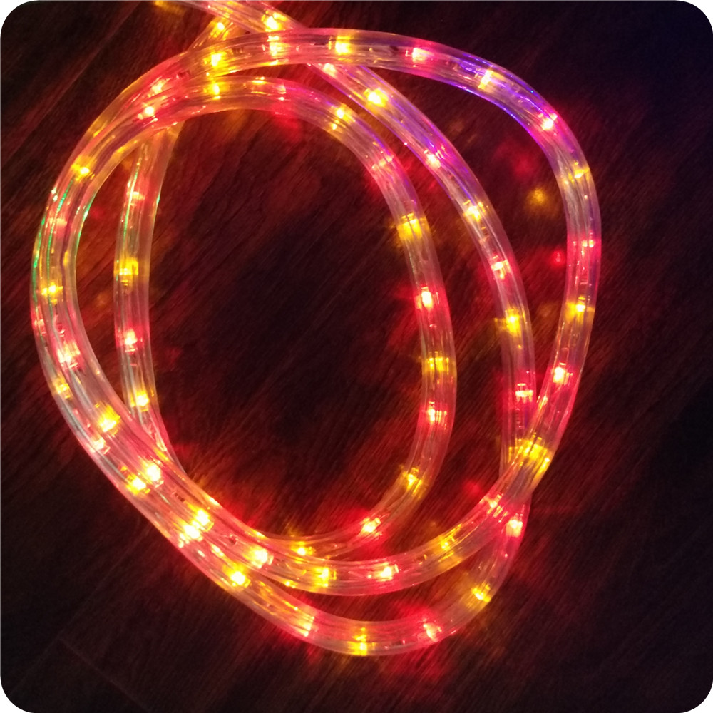 Chasing yellow with red 10m led rope light