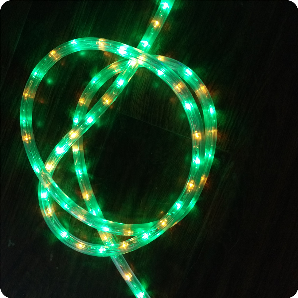 Chasing green with yellow 10m led rope light