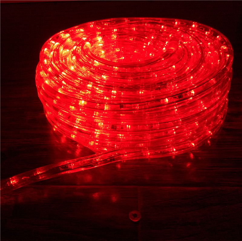 Chasing red 10m led rope light