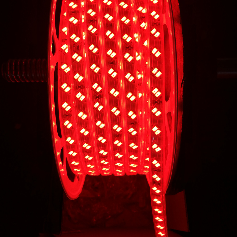 BEVEL DOUBLE ROWS 5730 120L 12mm RED LED STRIP LIGHT
